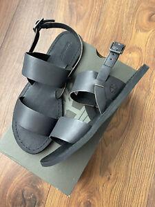Timberland Carolista Womens Black Leather Strap Sandals Shoes Size UK 6 EUR 39
