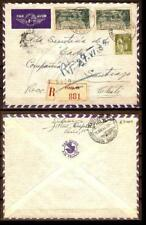 FRANCE  Sc 272, 347x2  ON REGISTERED COVER  TO CHILE ARR CDS fvf