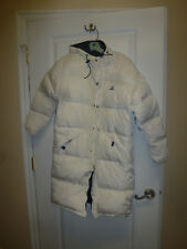Down Women's Coat by Piko Hawaiian Longboard Wear Sz Medium/S White Long w/Hood