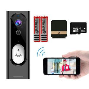 WiFi Video Wireless Doorbell Smart Camera 1080P HD 2-Way Audio Motion Detection