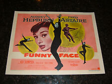 "FUNNY FACE Original Movie Poster, 22""x28"", C8.5 Very Fine to Near Mint* RESTORED"
