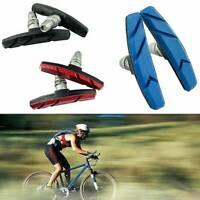 1,2 Pair Mountain Bike BMX V Brake Blocks Bicycle Break Pad Shoes 3 Color Lovely