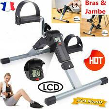 Mini LCD Vélo d'appartement Pédale Réglable pour Entraînement de Cardio Fitness