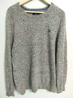 American Eagle Mens Size Large Classic Fit Gray Crew Neck Sweater Long Sleeve
