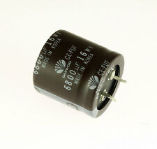 10x 6800uF 16V Radial Snap In Mount Electrolytic Aluminum Capacitor 105C 50VDC