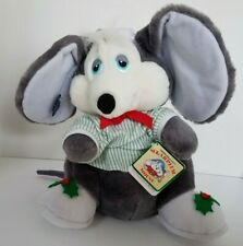 Stuffed Vintage Applause Christmas 21119 Sugarplum Mouse Plush Nightshirt Cap