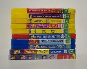 The Wiggles 10 DVD Lot 14 Shows Children's PAL ABC Kids Sing Dance Fun
