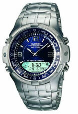 Casio Outgear Fishing Gear Moon Phase Anadigi Stainless Steel Watch AMW-708D-2A