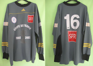 Maillot Adidas Coupe de France Gardien #16 Porté 2002 SFR Goal Jersey - XL
