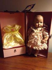 "Original HEIDI OTT Sweet Baby Doll Vintage 13"" Handmade - 2 dresses & case"