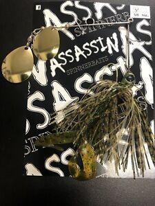 AUSTRALIAN MADE Assassin Spinner baits 1 X 5/8  BASS YELLA # 22