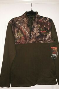 New Mens Mossy Oak Habit Chinquapin Snap Front Pullover Size Medium