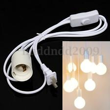 6FT Cord 4A E26 E27 Light Bulb Socket Wall Outlet US Plug Adapter On/Off Switch