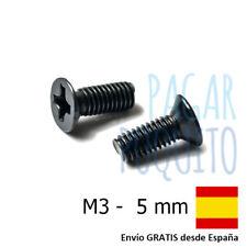 10 tornillos M3 5mm cabeza plana philips prototipos pcb Arduino electronica