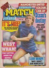 MATCH AUGUST 23rd 1986 Vol 7 No 51 MANCHESTER UNITED ASTON VILLA ARSENAL RANGERS