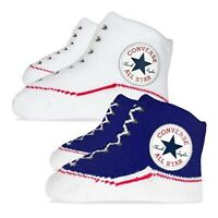 Converse Baby Gift Set Sock First Booties 2 Pairs Boxed Newborn 0-6 Months Chuck