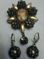 Michal Negrin Rare cameo brooch  6cm*5cm with earring