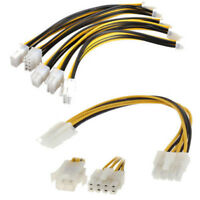 10X ATX Male to 4Pin Female PC CPU Power Supply Extension Cable Cord Adapter U