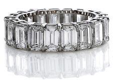 size 4 4.5 5 6 7 8 9 4.00 Ct Natural Emerald Cut Diamond Eternity Ring 14Kwg
