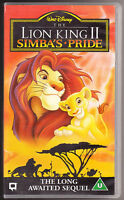 DISNEY - THE LION KING 11, 2 - SIMBA'S PRIDE - VHS PAL (UK) VIDEO