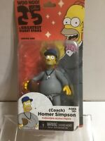 "COACH HOMER SIMPSON THE SIMPSONS GREATEST GUEST STARS 5"" FIGURE SERIES ONE NEW"