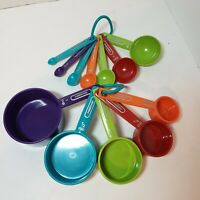 Farberware Professional Measuring Set 12 Pieces Bright Colors 5 Cups & 7 Spoons