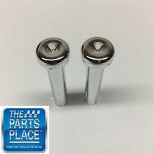 1971-88 GM Cars Chrome Door Lock Knobs Pair
