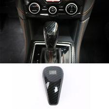 For Subaru XV 2018 2019 ABS Carbon Fiber Interior Gear Shift Knob Cover Trim 1PC