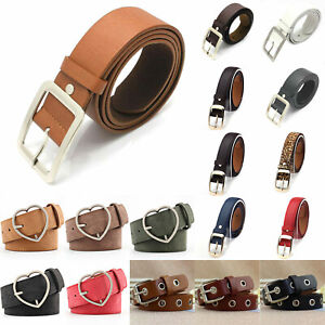 Ladies Women Buckle Leather Waist Belt Wide Stretch For Jeans Waistband Strap