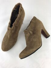 Sam Edelman Simone Ankle Boots Size 9.5 M Womens Tan Suede Leather Booties Shoes
