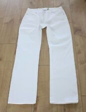 Superb White Denim STREET ONE Zip Straight Leg  Summer Casual Jeans W 33 L 33