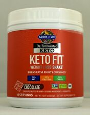 Garden of Life Keto Fit Chocolate 12.87 oz 10 servings Burns Fat Fights Cravings