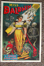 Miss Baldwin magician poster #1 1890 A Modern Witch Of Endor