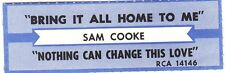 Juke Box Strip Sam Cooke - Bring It All Home To Me / Nothing Can Change This Lov