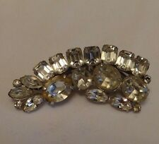 Vintage Shoe Clip With Large Rhinestones by Coro Pat. Pending