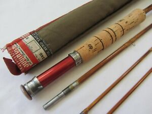 South Bend Bamboo Fly Rod 9' 3 pc 2 Tips