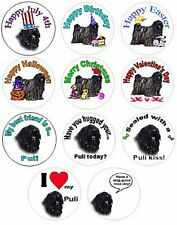 Puli stickers seals 315 pieces labels waterproof asst 11 designs