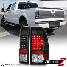 "2008-2016 Ford F250 F350 F450 SD ""LED Parking Brake Lamps"" Black Tail Lights SET"