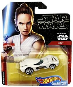 Hot Wheels Star Wars Character Cars REY First Appearance! Die-Cast 1:64 Scale