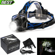 Head Light Torch Lamp Headlamp Cree LED Rechargeable Flashlight 6000LM UK