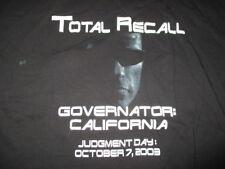 "ARNOLD SCHWARZENEGGER ""THE GOVERNATOR: CALIFORNIA"" (XL) T-Shirt TOTAL RECALL"