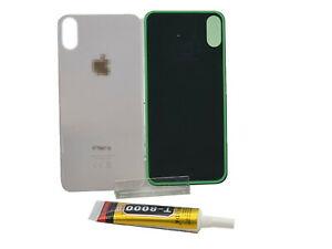 iPhone X Backcover Weiß ✔️ Großes Kameraloch Big Hole ✔️ 1x T8000 Kleber 15ml✔️