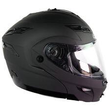 3XL GMAX GM54s FLAT BLACK MODULAR  Helmet LED Motorcycle
