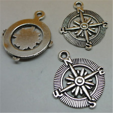 8X Tibetan Silver compass Charm Pendant Beads Jewellery Craft Wholesale  GU933