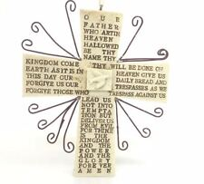 Kurt Adler Lord's Prayer Cross Ornament Prayer Christian Faith White Christmas
