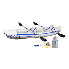 Sea Eagle 370 Pro 3 Person Blow Up Inflatable Kayak Fishing Boat Canoe + Paddles
