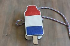 MOSSIMO Bomb Pop Popsicle Purse Red White Blue Glitter Summer Phone Bag