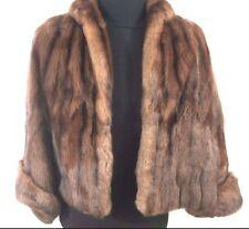 Mink Fur Coat Shawl Wrap Stole Cape Brown Maurice Rothschild Vintage 1940's 50's