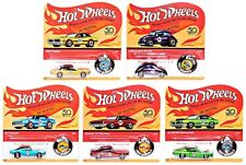 2018 Hot Wheels 50th Anniversary Redlines Originals Collection 5 Vehicle Set!