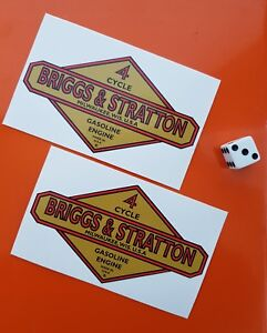 briggs and stratton decal stickers x 2 high quality vinyl lawnmower Engine